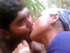 Kinky Indian Village Girl Sucks Dick In The Bushes