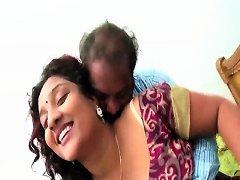 Bhabhi With Fan Loving Her Huge Tits Suck