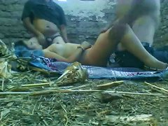 Hot Amateur Indian Fmm Threesome In The Barn With Busty MILF