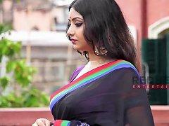 Rupsa Saree Lady Deep Cleavage