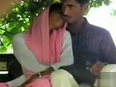 Foxy Desi Girl Gives Her Friend A Handjob In Public