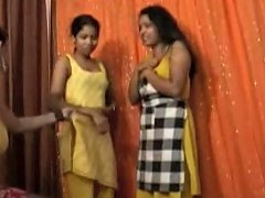Desi Indian Twosome To Lesbian Threesome Porn Videos