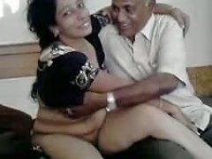 Old Indian Guy Enjoys His Curvaceous MILF Wife On Cam