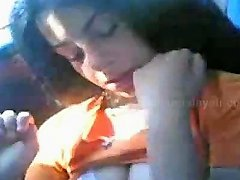 Indian Delhi Teen Girl Expose In Car