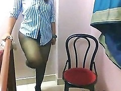 Fat Bottomed Indian Strips And Teases On Webcam Feature
