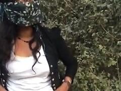 Indian Girl Caught In Jungle Hindi Talk